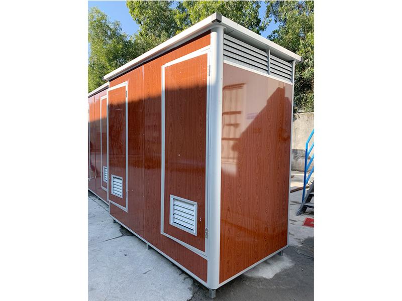 木纹板移动厕所